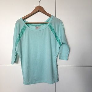 Nike Dri Fit Teal 3/4 sleeve shirt